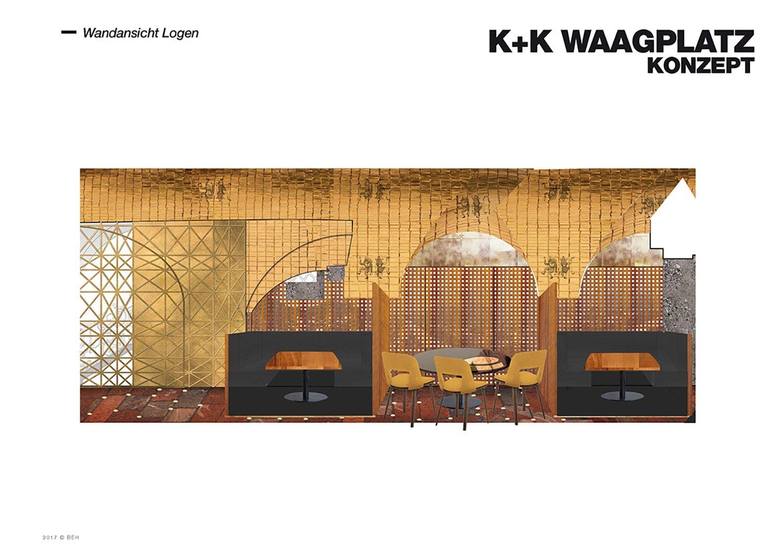Restaurant Koller und Koller am Waagplatz Design Walls Lodges BEHF Architects}