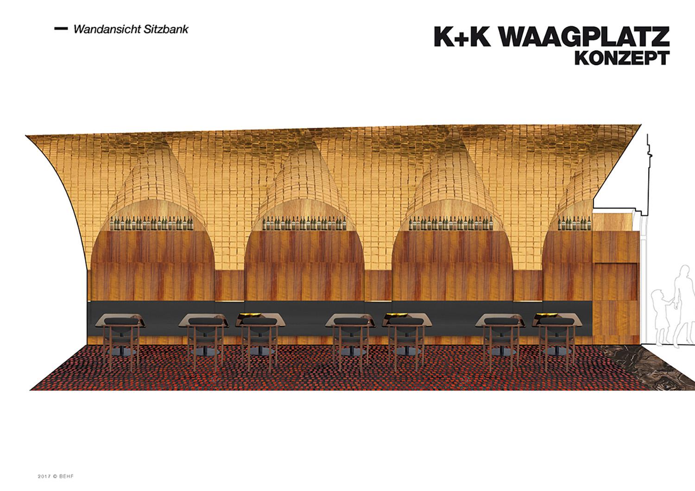 Restaurant Koller und Koller am Waagplatz Design Benches BEHF Architects}