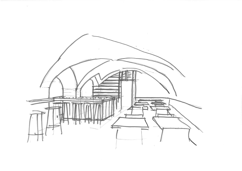 Restaurant Koller und Koller am Waagplatz Sketch Guest Room BEHF Architects}
