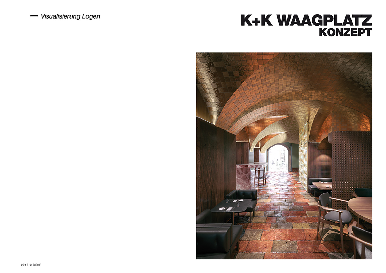 Restaurant Koller und Koller am Waagplatz Rendering Lodges BEHF Architects}
