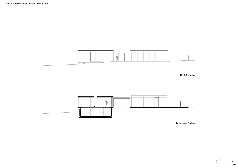 Elevation and section Raulino Silva Architect}