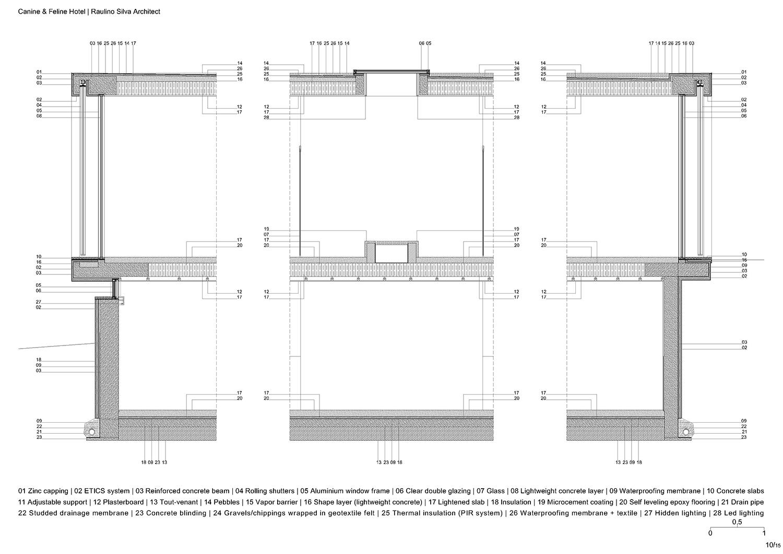 Section detail Raulino Silva Architect}