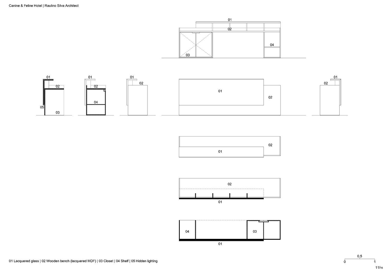 Reception bench Raulino Silva Architect}