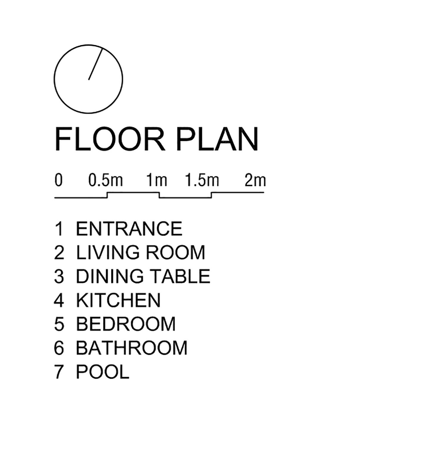 Floor plan for 2-bedroom villa _draw Nguyen Tan Phat}