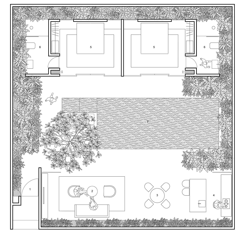 Floor plan for 3-bedroom villa Nguyen Tan Phat}