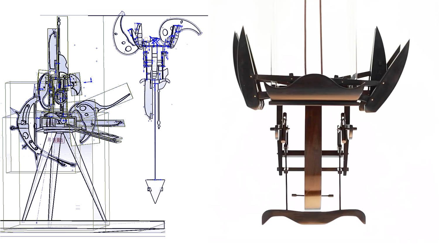 interactive mechanical artistic device 20}