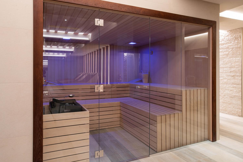 Diverse tipologie di sauna nella Spa del Re delle Alpi Ariostea
