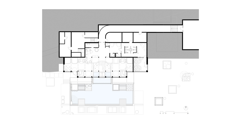 1° piano sotterraneo - zona relax noa* network of architecture}