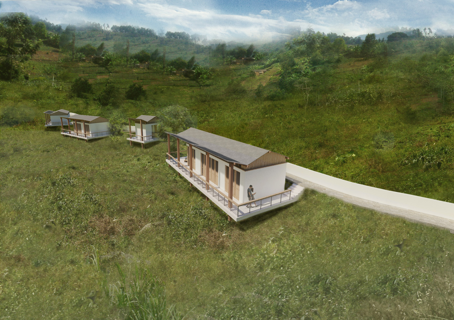 Bungalows From Above Rendering SPG Architects}