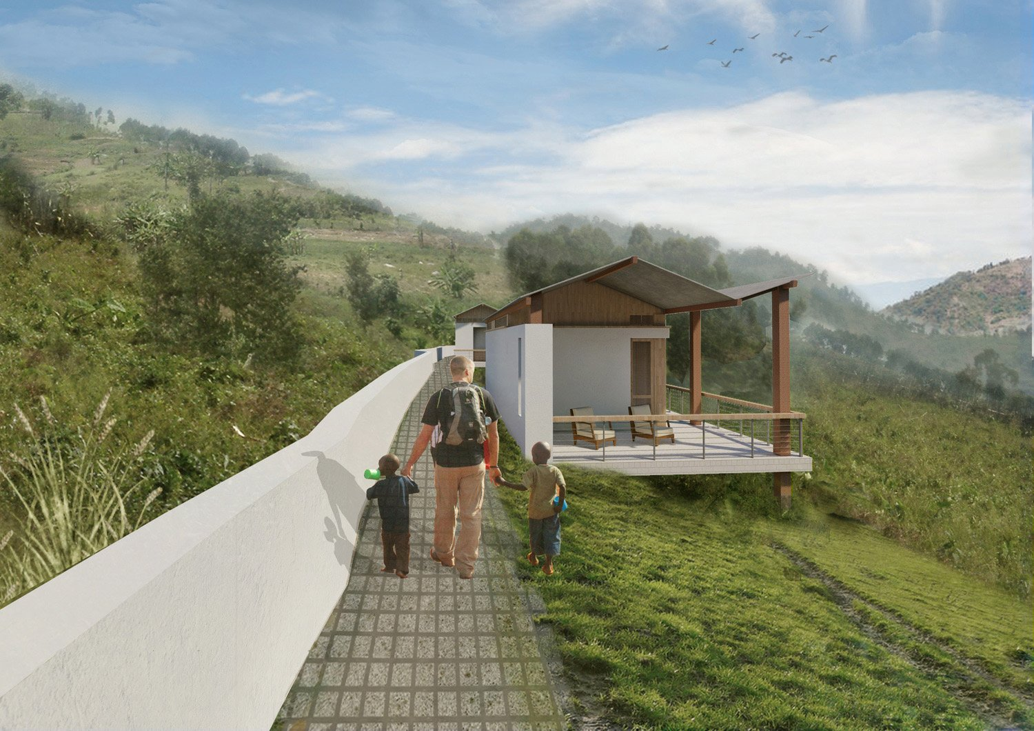 Bungalow Side Rendering SPG Architects