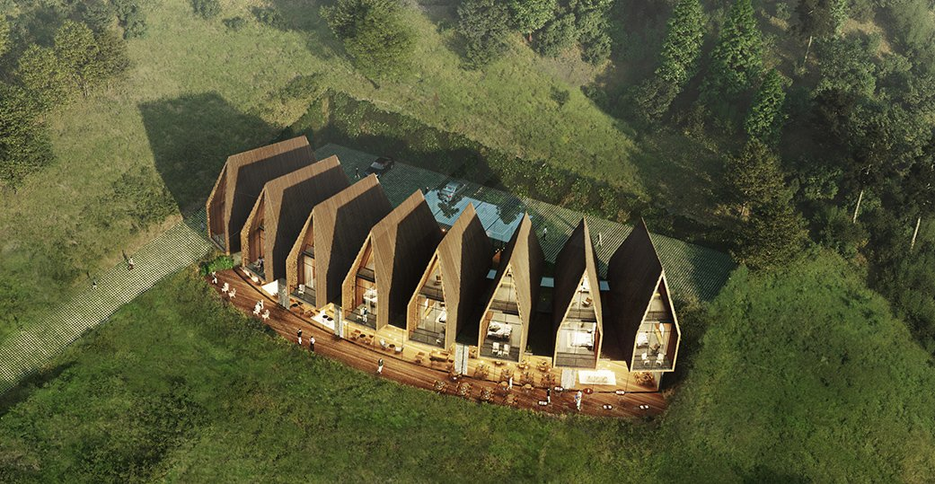Voronet Lila Hotel rendering ivabox