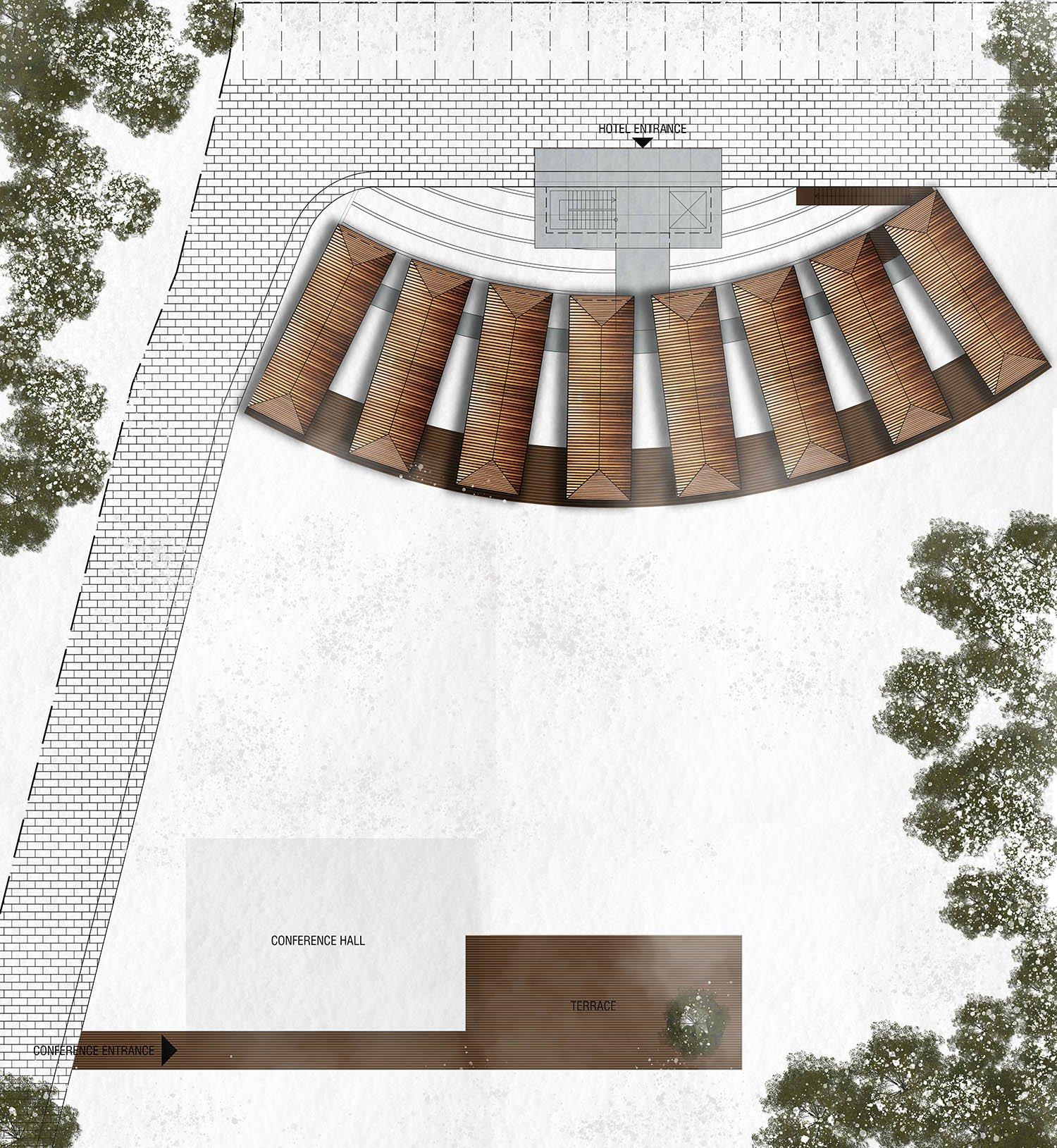 Voronet Lila Hotel site plan Yazgan Design Architecture}