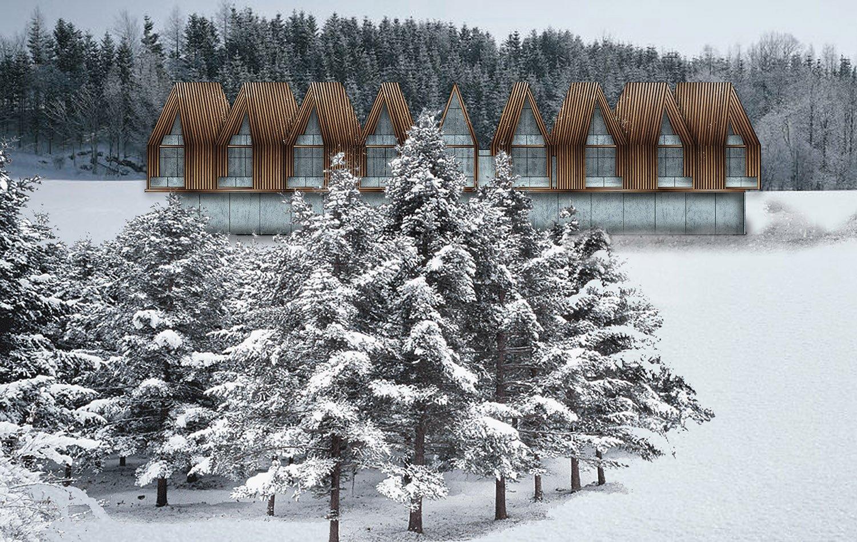 Voronet Lila Hotel elevation perspective Yazgan Design Architecture}