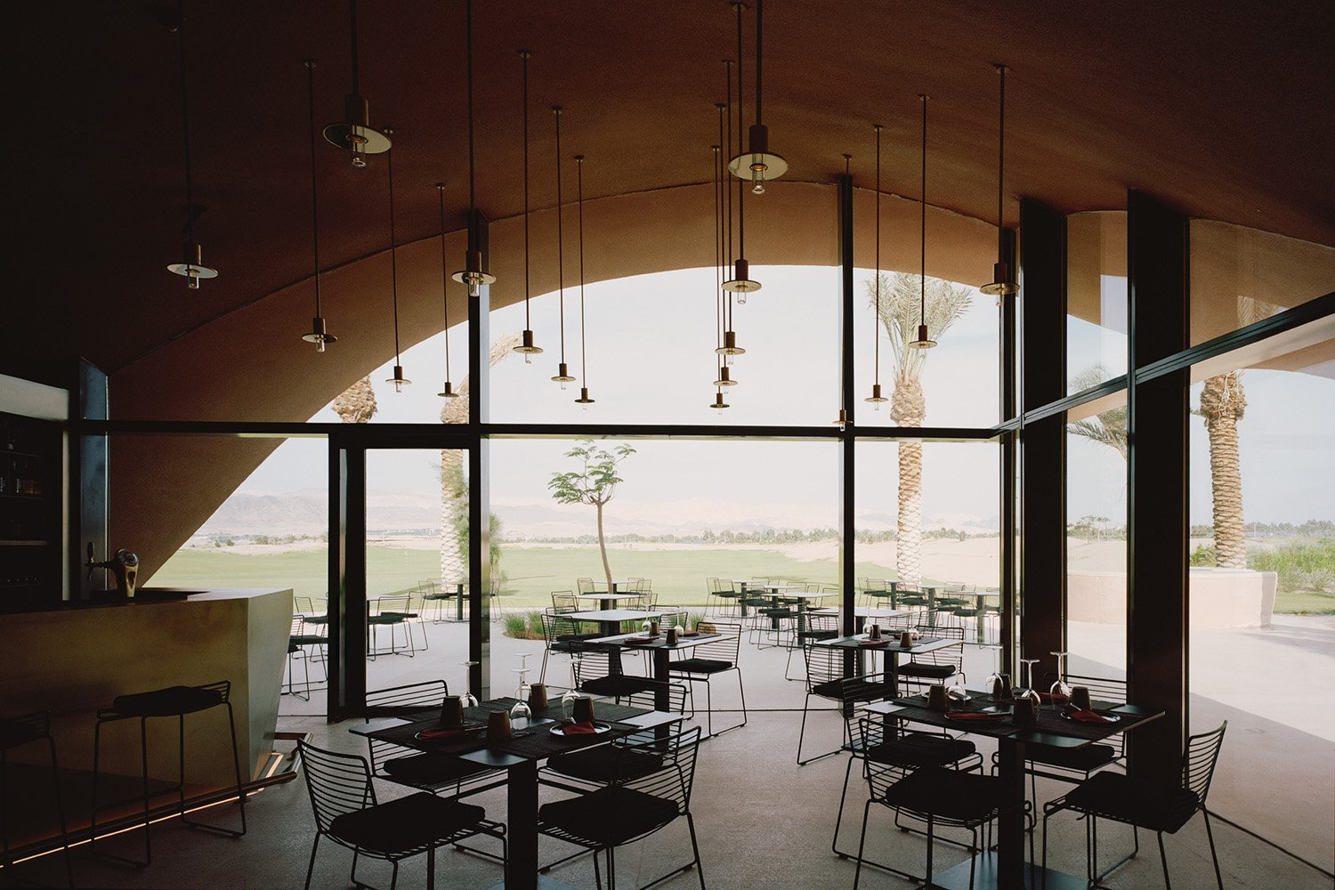 Internal view of golfclub cafe area Rory Gardiner