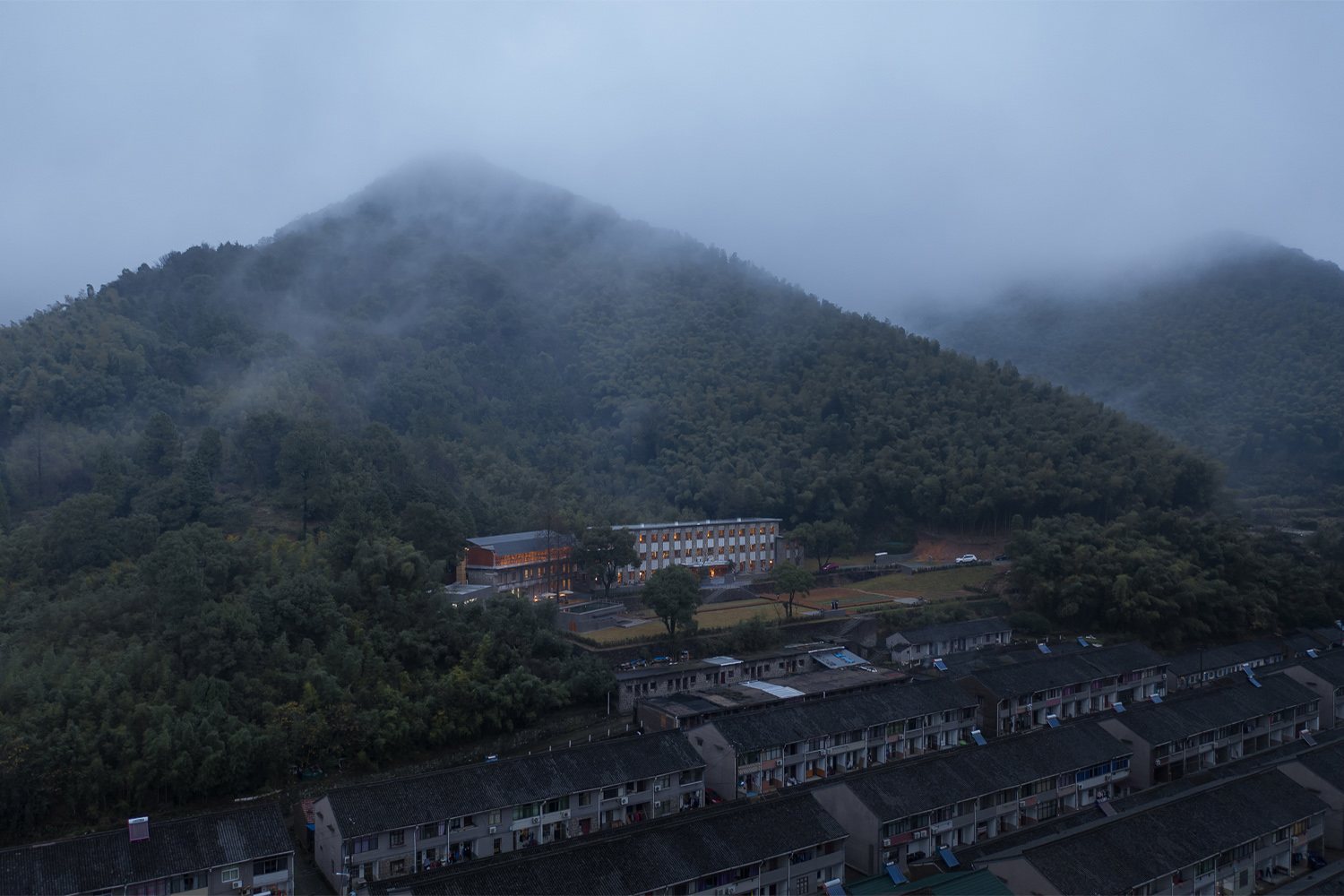 Aerial View of the Hotel and the Village Xuguo Tang