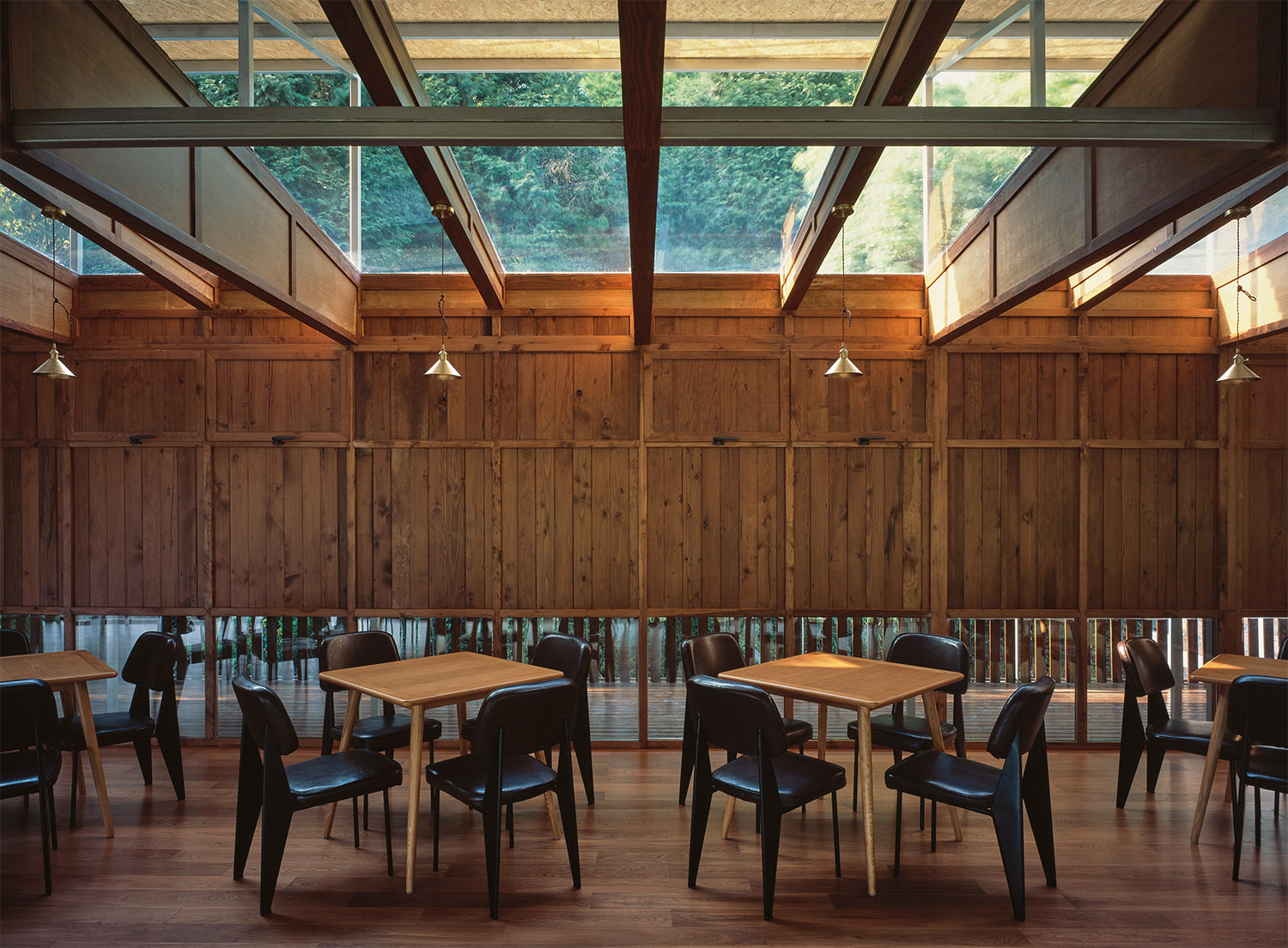 Interior of the Rooftop Canteen Looking to the Mountain Hao Chen