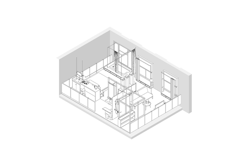 Double Room Axonometric Atelier XUK}