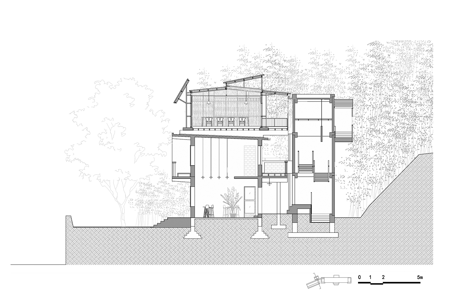 Section of the Annex Building Atelier XUK}