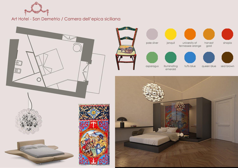 MOODBOARD CAMERA DELL'EPICA SICILIANA MODUSLAB ARCHITECTURE&INTERIOR DESIGN}