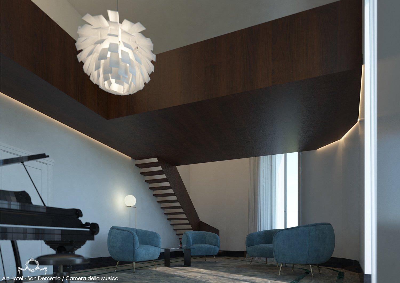 CAMERA DELLA MUSICA/LIVING MODUSLAB ARCHITECTURE&INTERIOR DESIGN