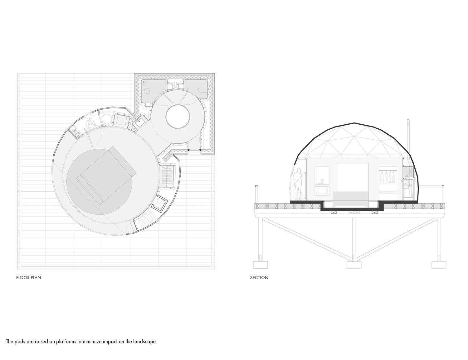 Floor plan and section Montalba Architects}