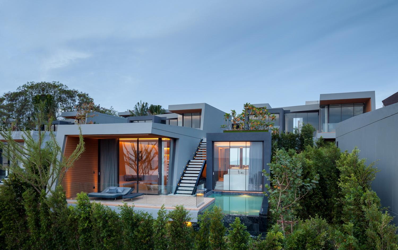 C-shaped villas on the sloping hill Ketsiree Wongwan