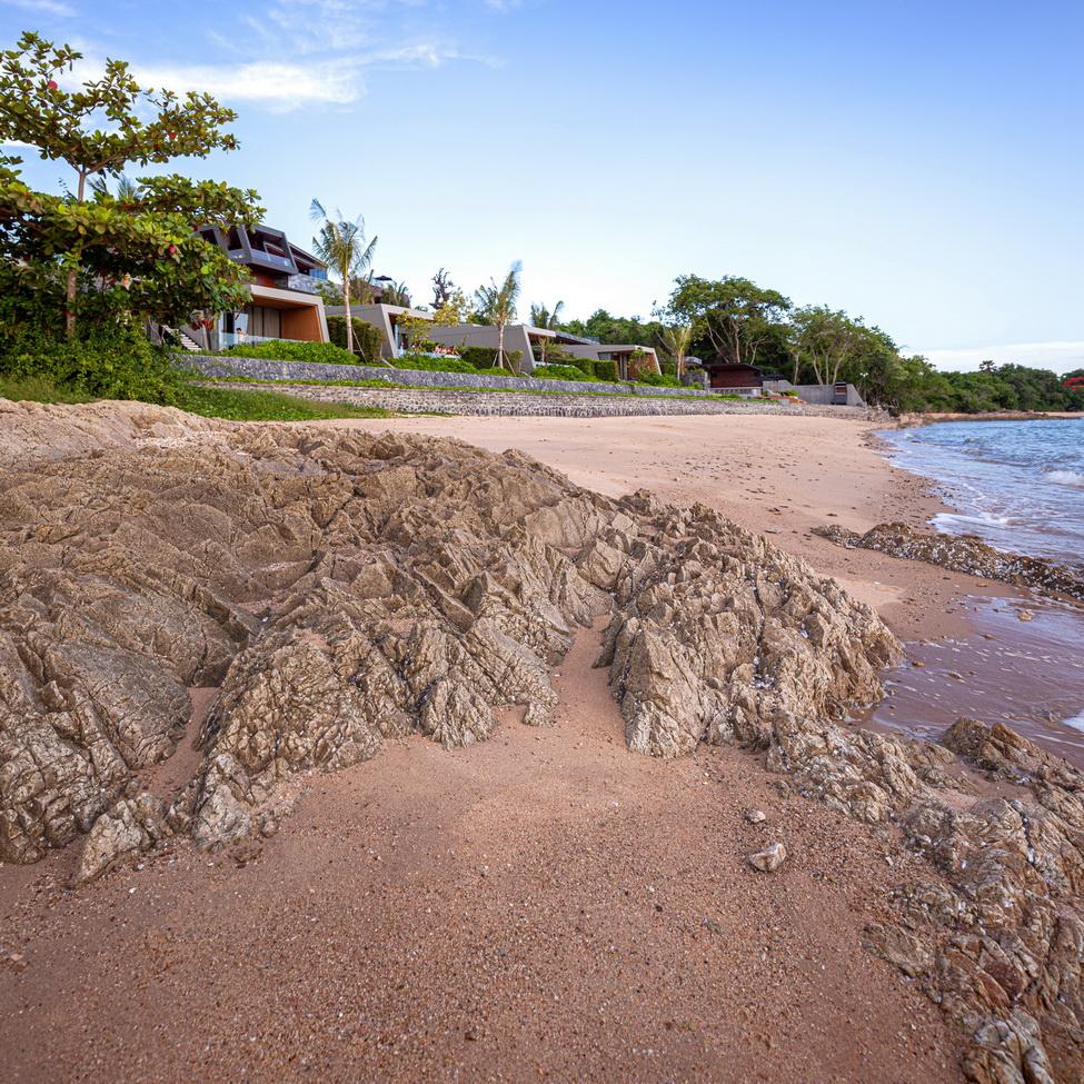Rocks of the hillside beach, the design inspiration Spaceshift Studio