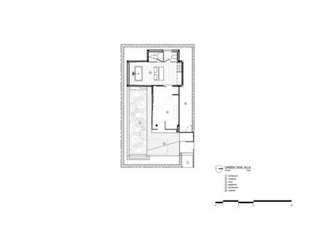 Garden-view villa floor plan Vaslab}