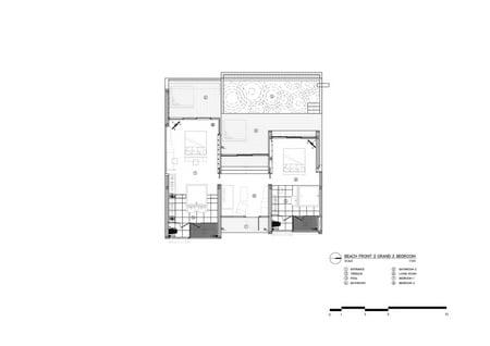 Two-bedroom villa floor plan Vaslab}