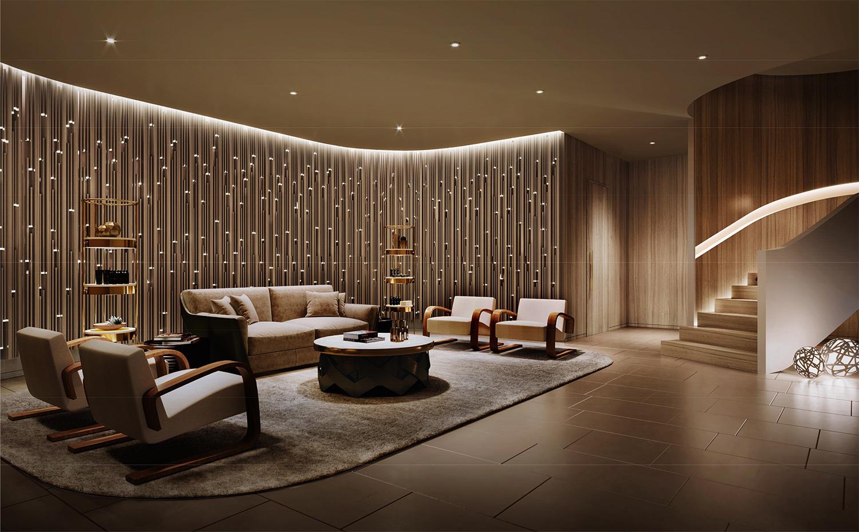 Lounge Rendering NIKKEN SPACE DESIGN LTD}