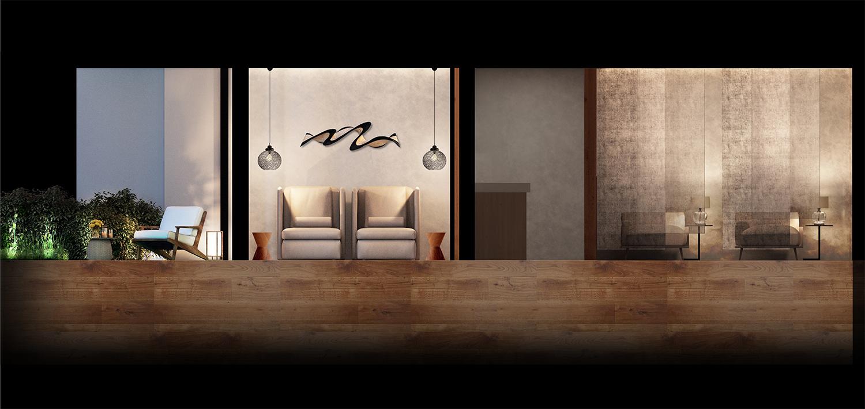 Relaxation Room Elevation NIKKEN SPACE DESIGN LTD}
