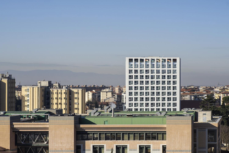 Lo skyline di Firenze con la nuova residenza universitaria Foto: Pietro Savorelli