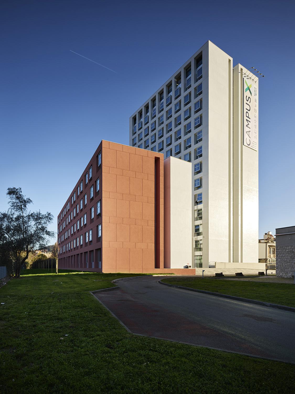 La nuova residenza universitaria vista dalla Calamandrei Foto: Pietro Savorelli