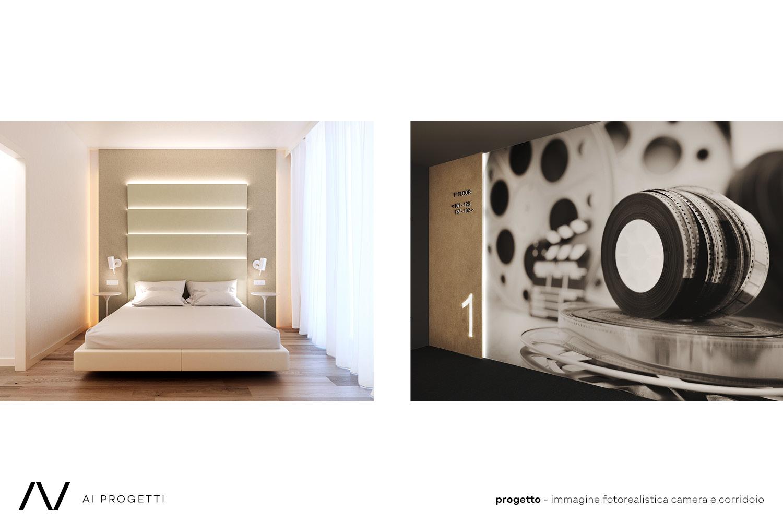 Room and corridor renders AI Progetti}