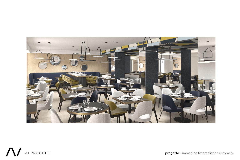 Restaurant render AI Progetti}