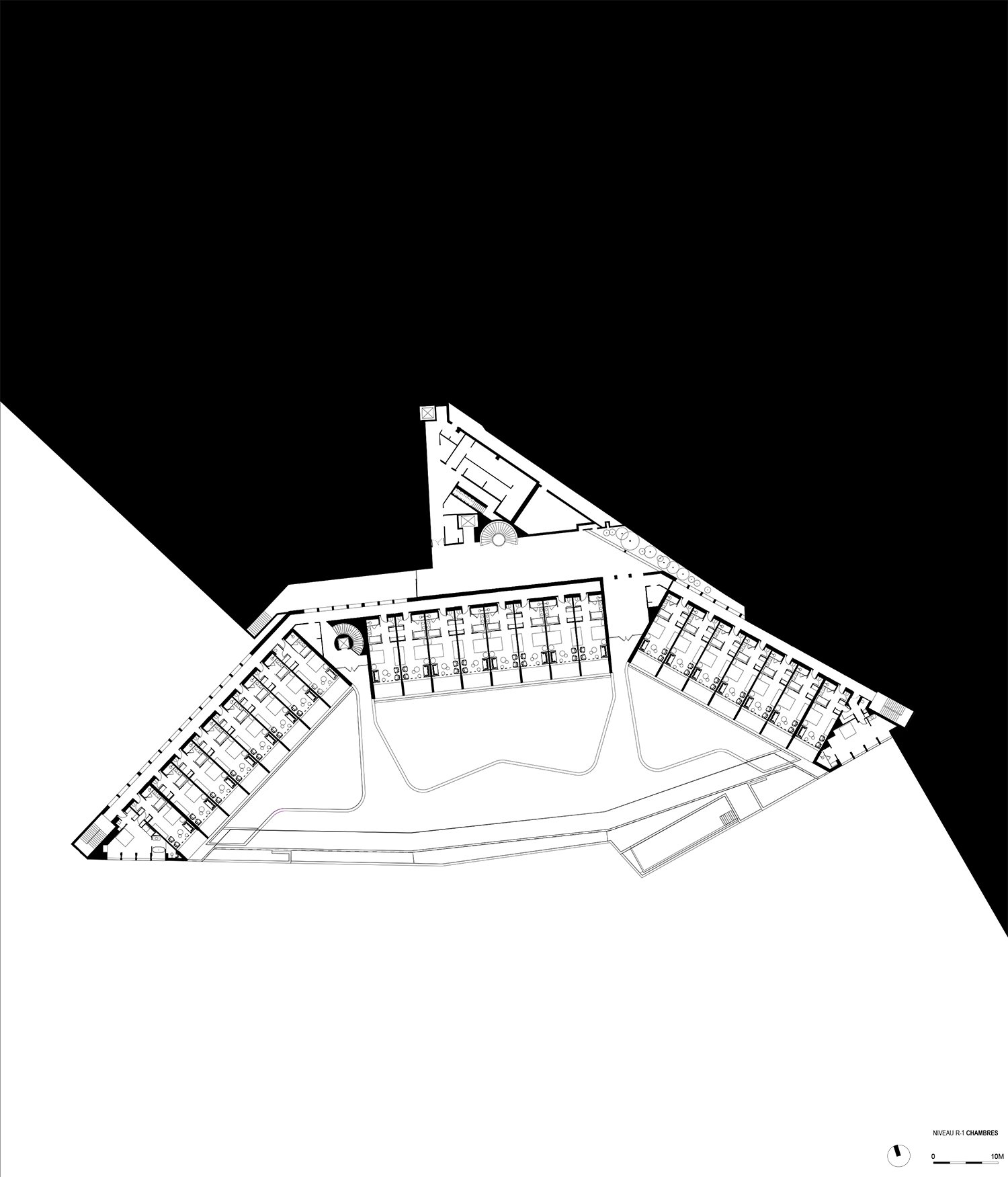 First level down plan PACE Architects}