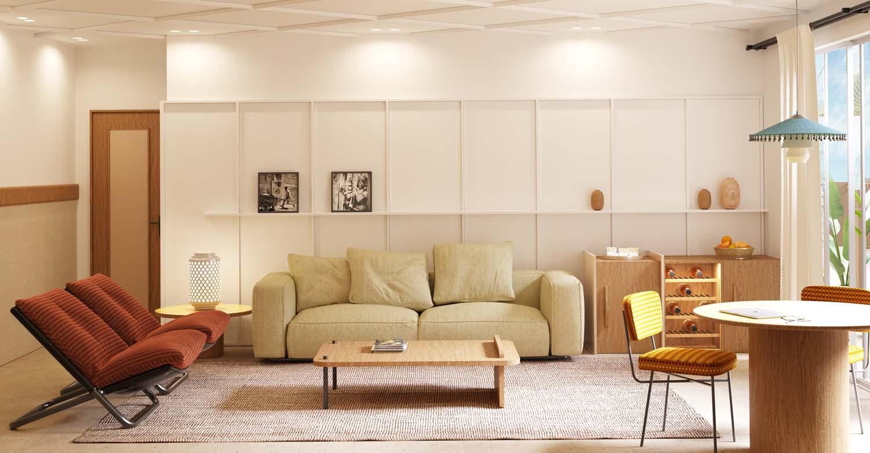 Il soggiorno della suite Fabio Fantolino