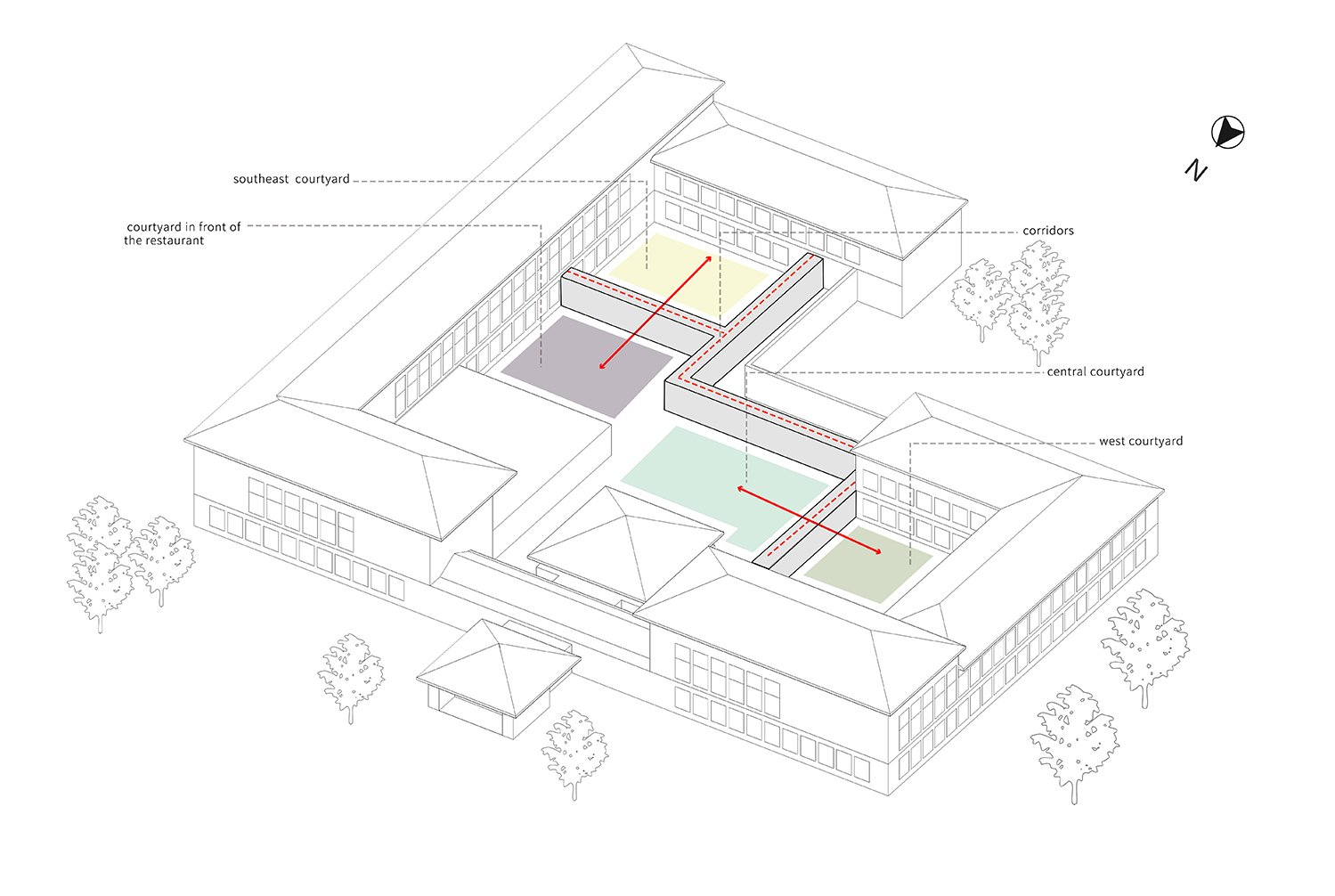 Countryard space analysis The Architectural Design & Research Institute of Zhejiang University}