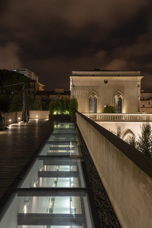 Il lucernario sulla terrazza Moreno Maggi