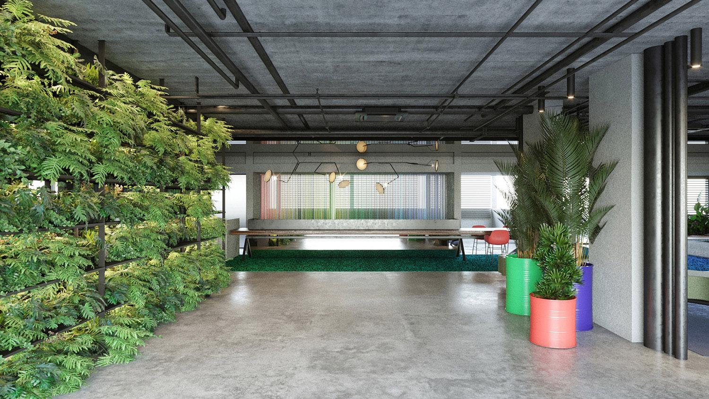Vista verso la reception Carlo Berarducci Architecture