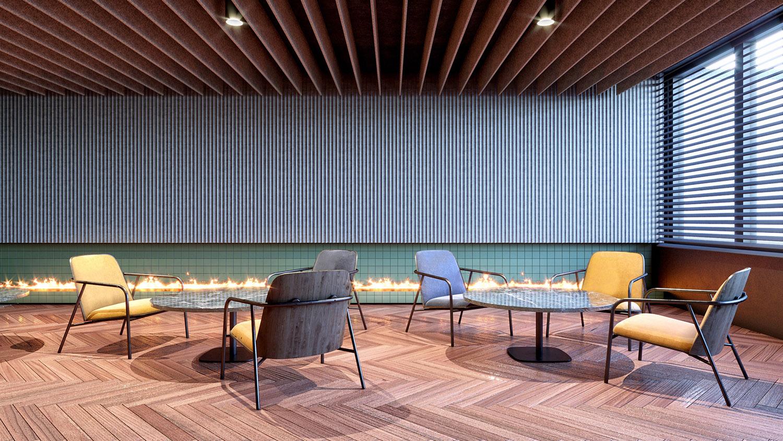 Area lounge del bar Carlo Berarducci Architecture
