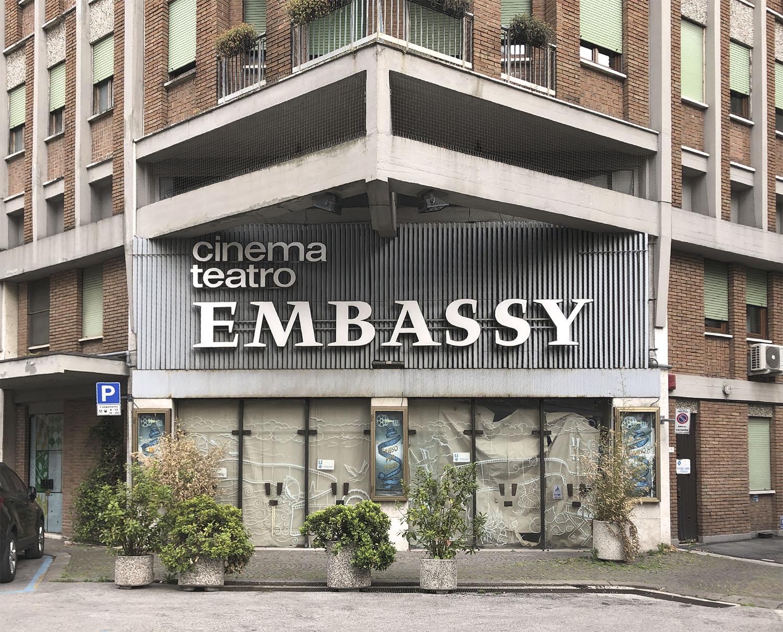 Ingresso dell'ex cinema - stato di fatto Gherardiarchitetti