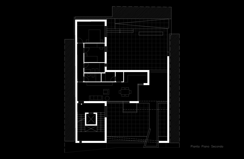 Pianta piano secondo Giuseppe Todaro Architect}