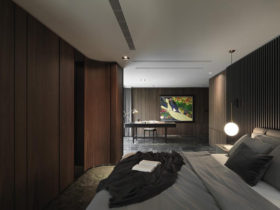 Master bedroom Moooten Studio / Qimin Wu}