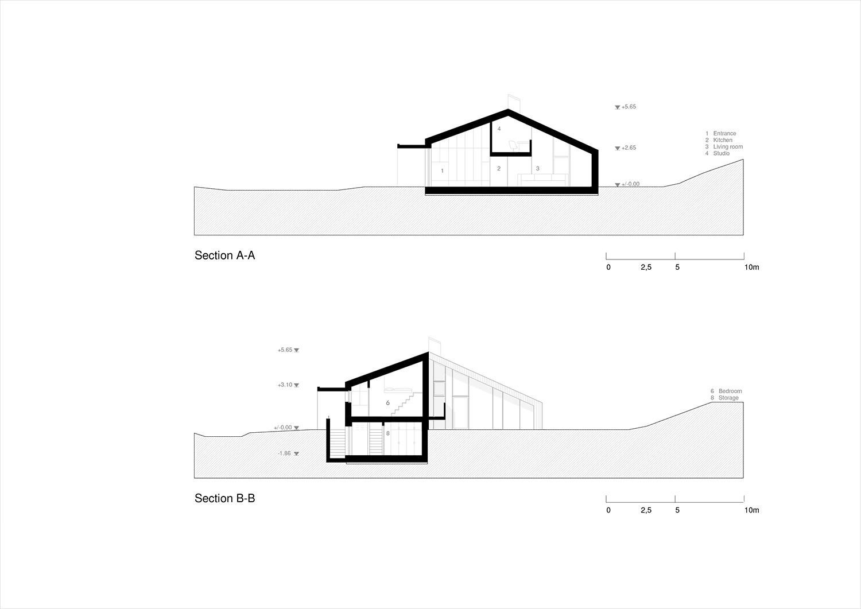 Sections A-A, B-B Plasma Studio}