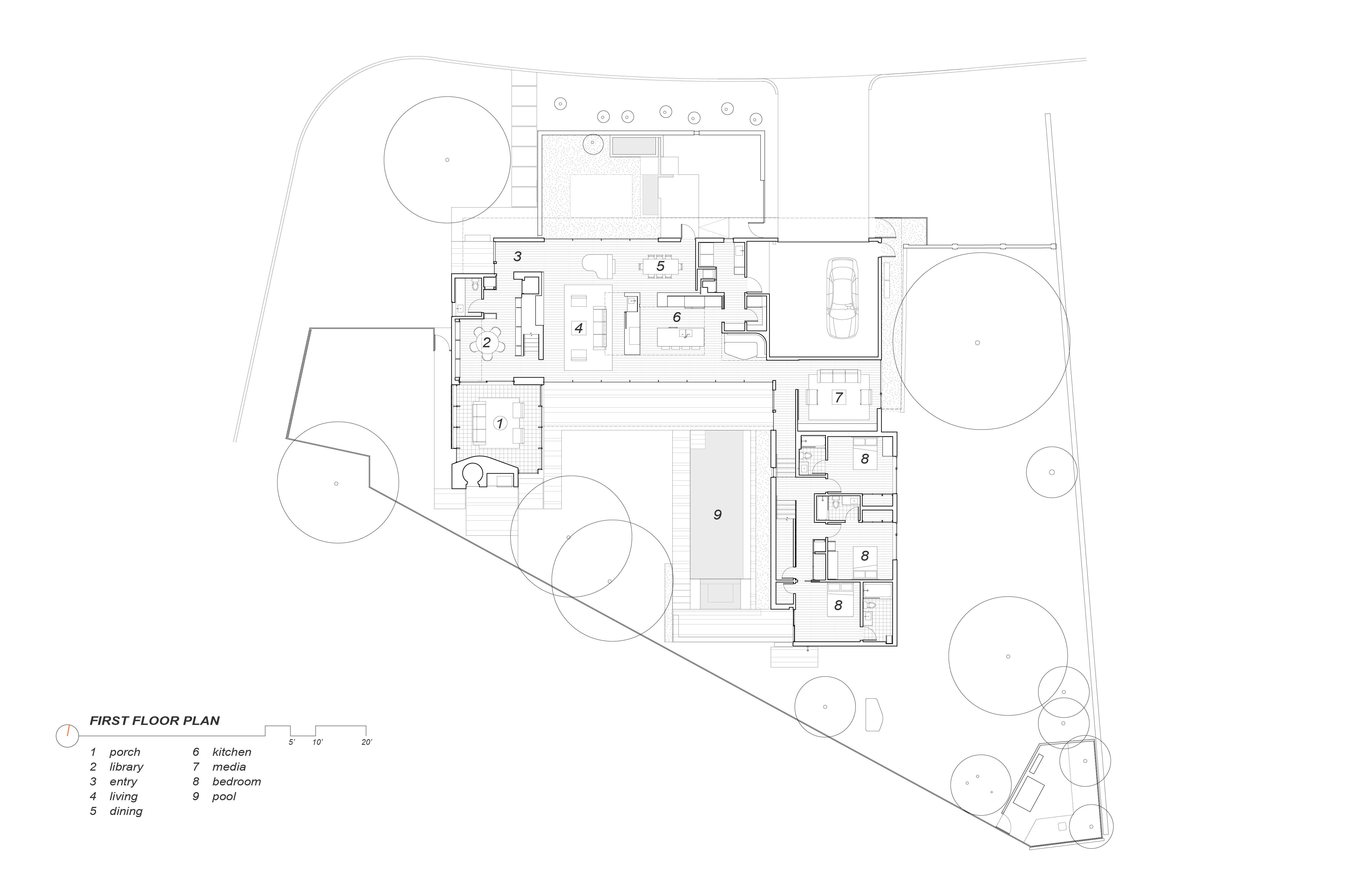 First Floor Plan Alterstudio Architecture}
