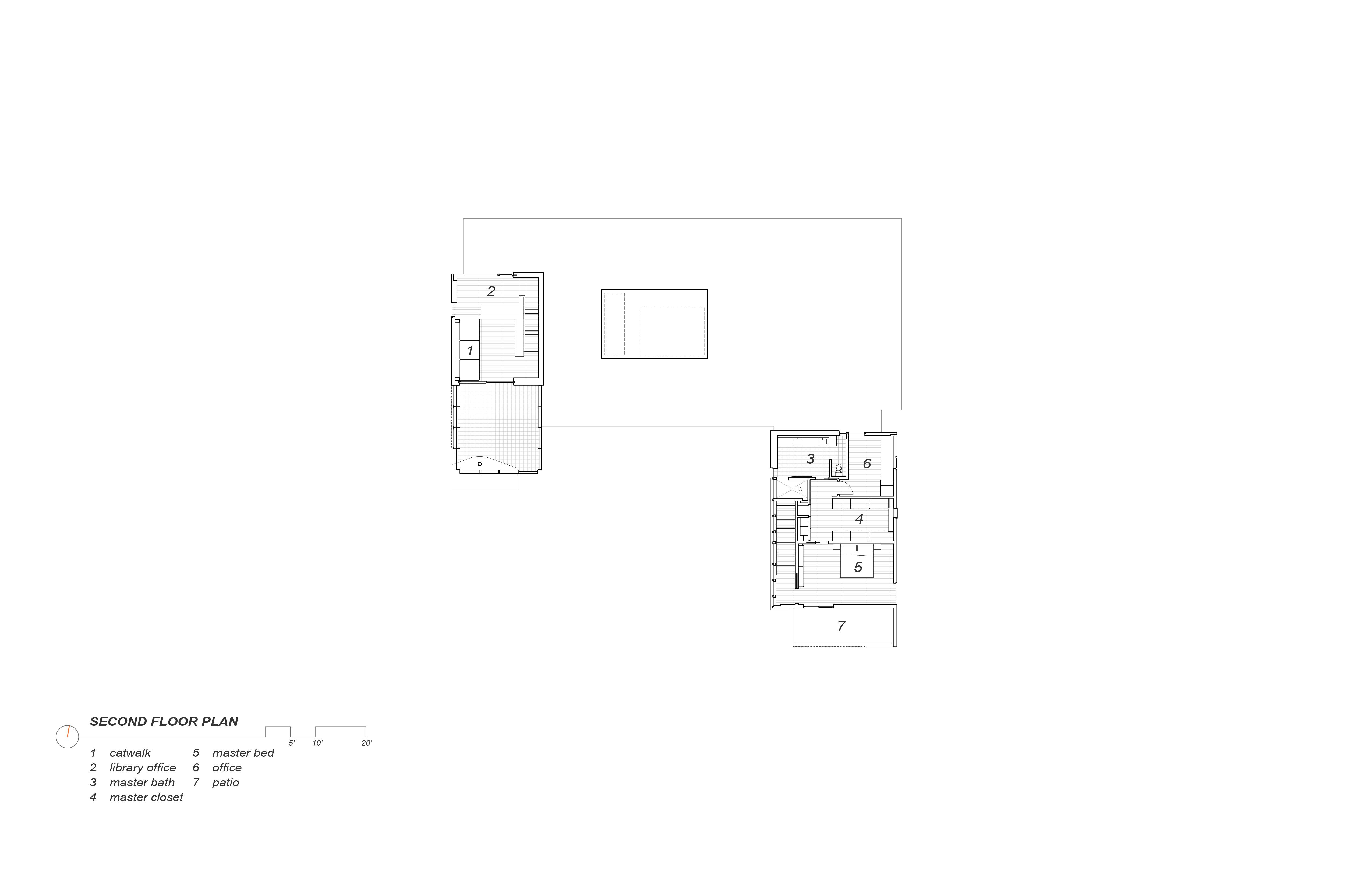 Second Floor Plan Alterstudio Architecture}