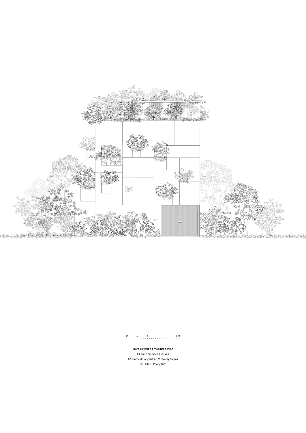 Front elevation Le Thanh Thuong}