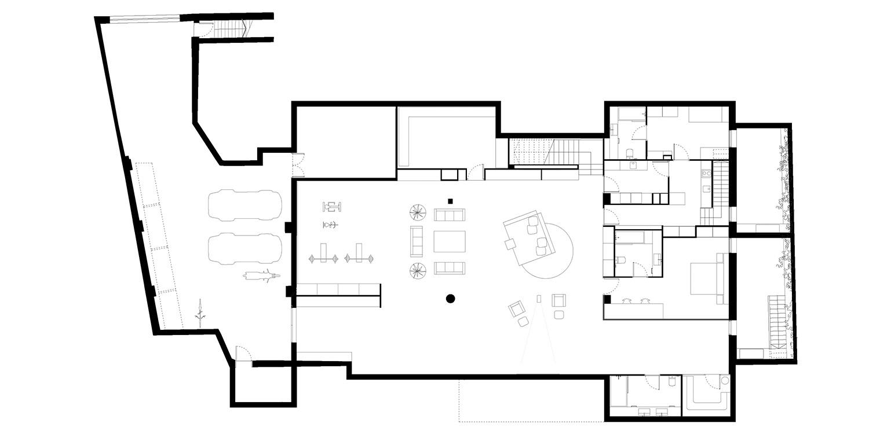 Lower Floor Plan Jofre Roca arquitectes}