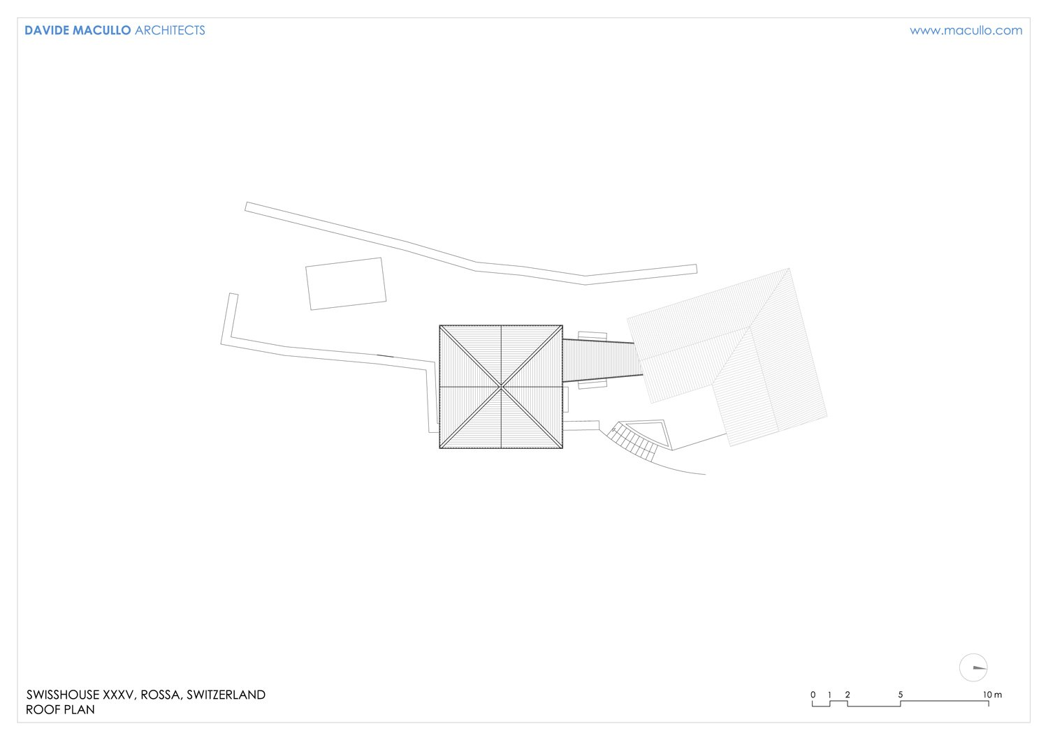 Roof plan Davide Macullo Arhcitects}